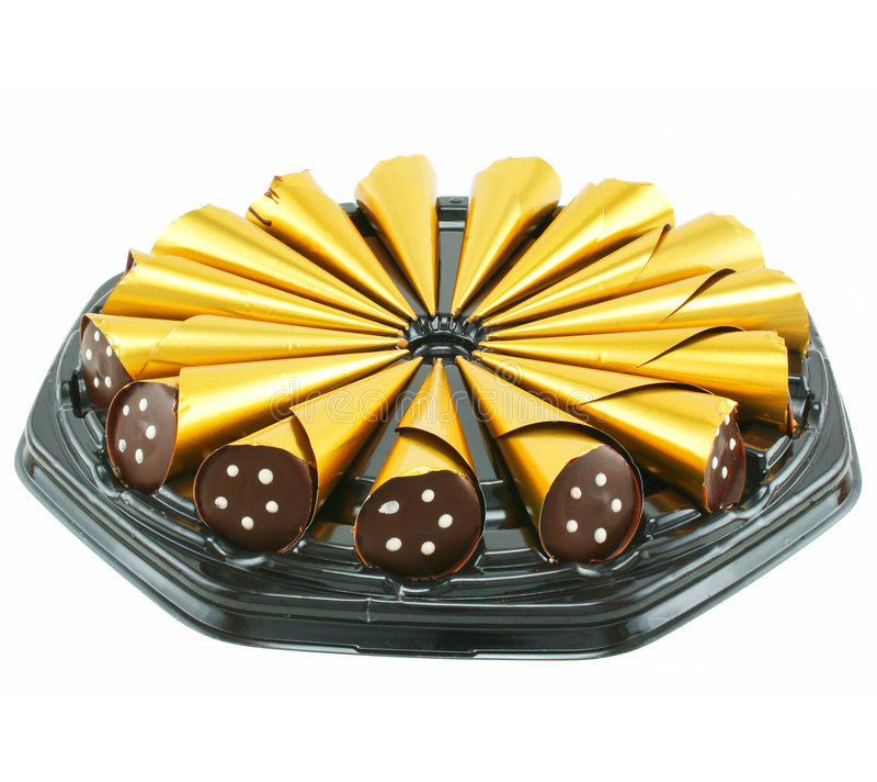Caixa de doces de chocolate imagem de stock royalty free