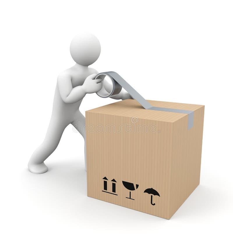 Caixa de embalagem humana ilustração stock