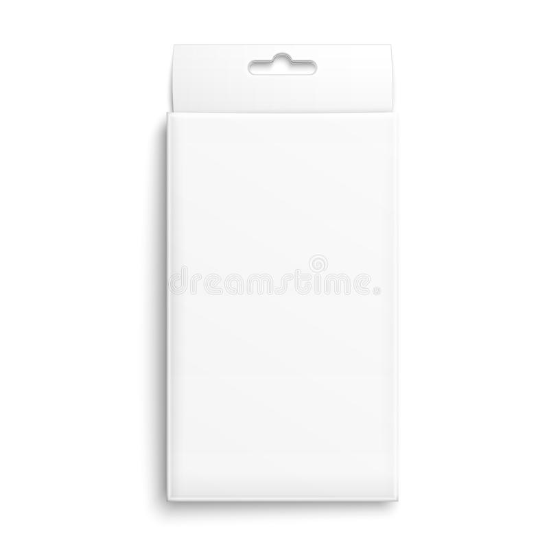 Caixa de empacotamento do Livro Branco. ilustração royalty free