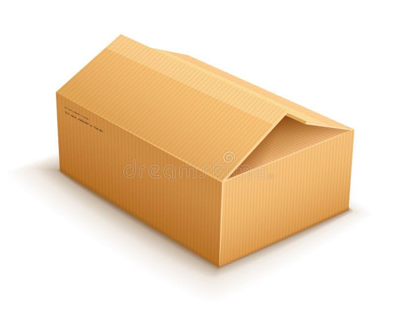 Caixa de empacotamento do pacote da entrega do cartão da abertura ilustração stock