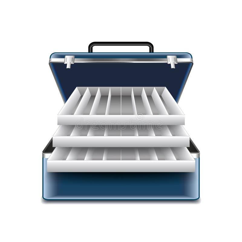 Caixa de equipamento no vetor branco ilustração stock