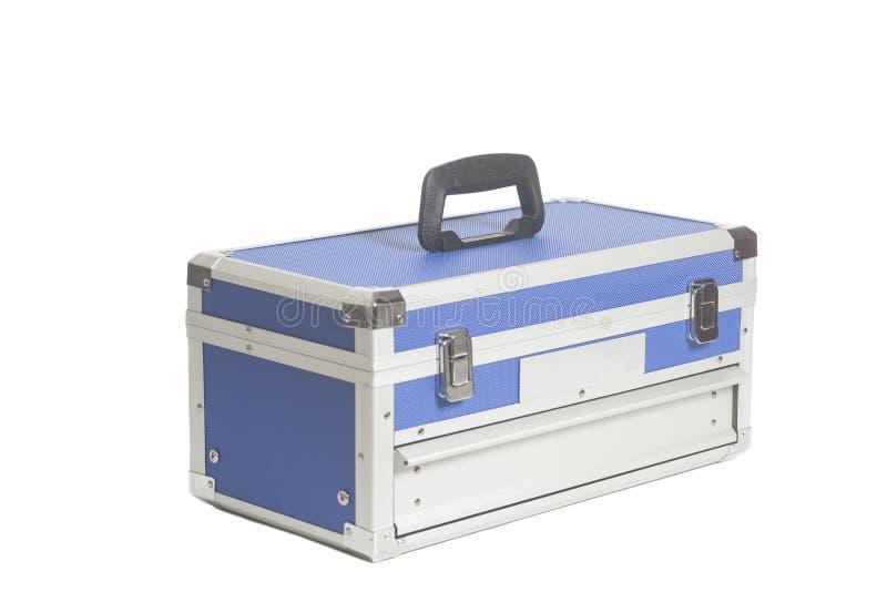 Caixa de ferramentas azul imagem de stock royalty free