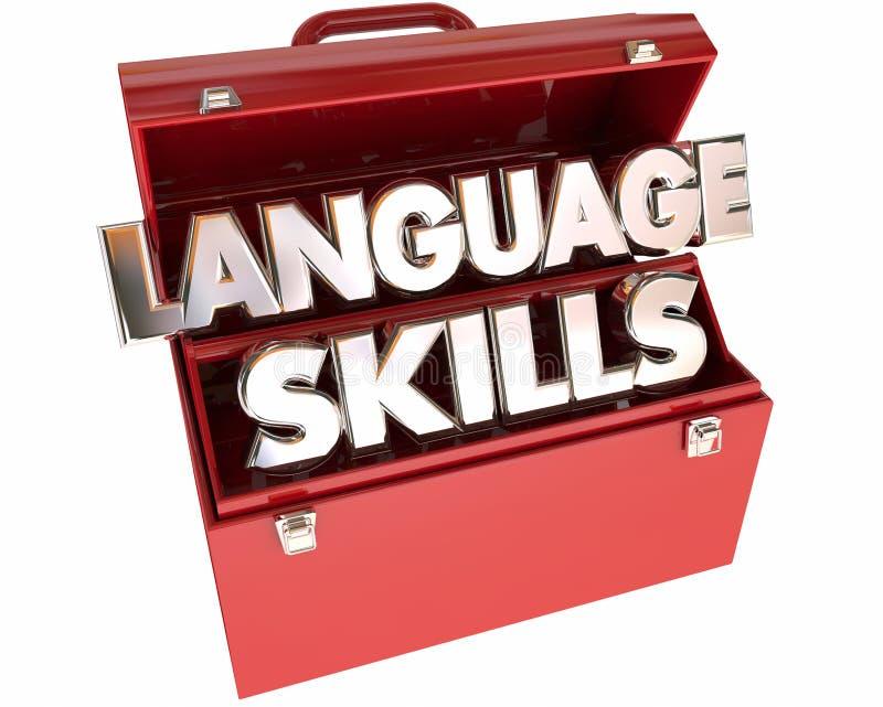 Caixa de ferramentas das ferramentas das habilidades de língua ilustração stock