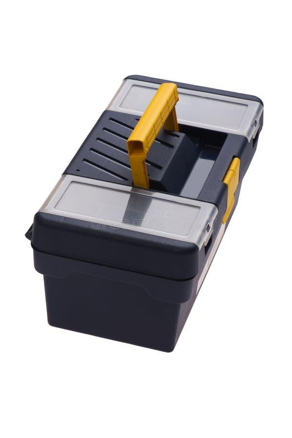 Caixa de ferramentas plástica isolada imagens de stock