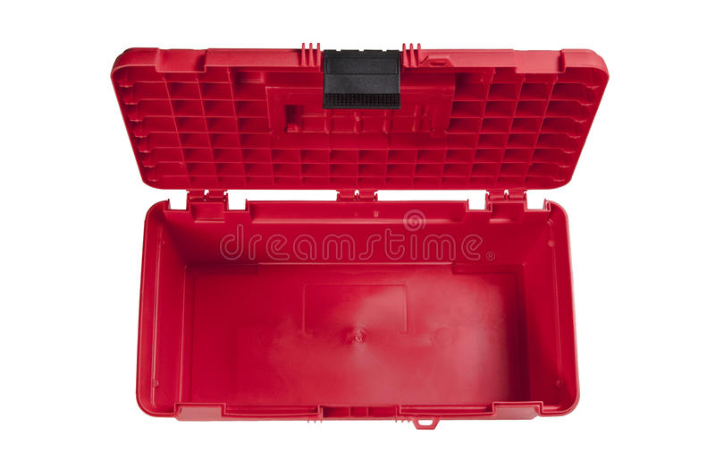 Caixa de ferramentas vermelha imagem de stock royalty free