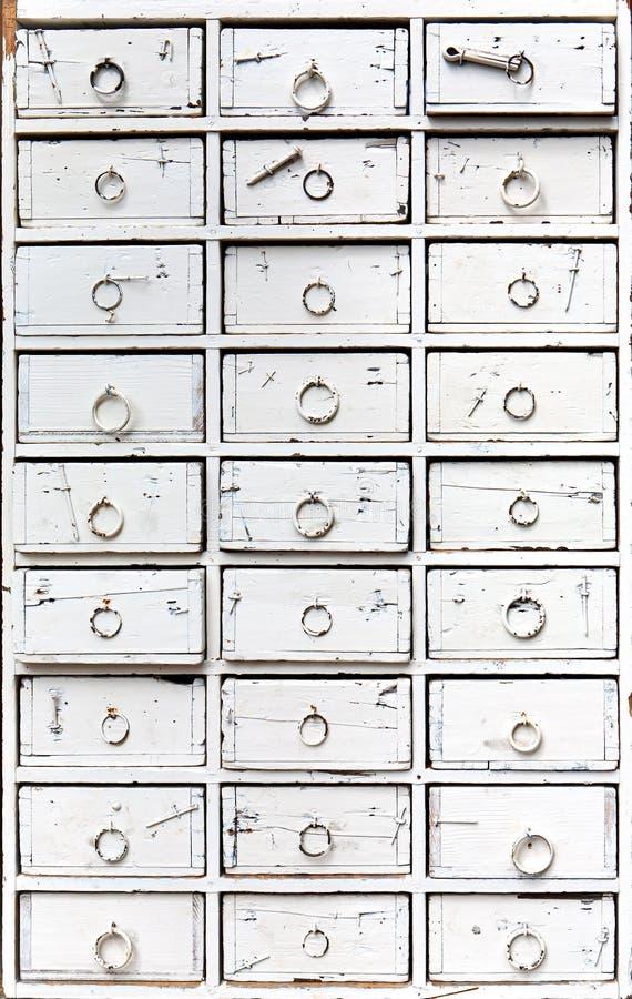 Caixa de gavetas velha fotos de stock royalty free