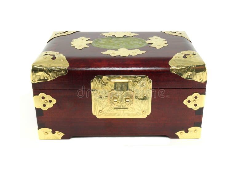 Caixa de jóia chinesa, fechada imagens de stock