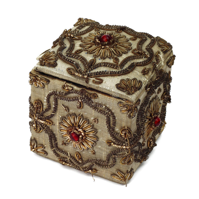 Caixa de jóia do vintage fotografia de stock royalty free