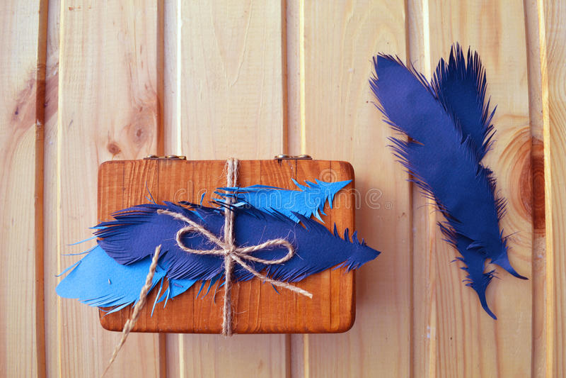 Caixa de jóia Handmade foto de stock