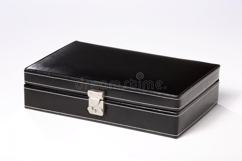Caixa de jóia preta imagens de stock
