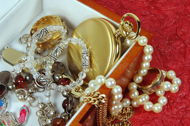 Caixa de Jewelery foto de stock