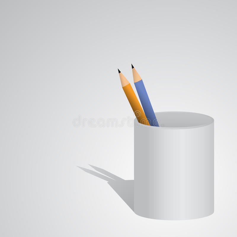 Caixa de lápis do ícone ilustração royalty free