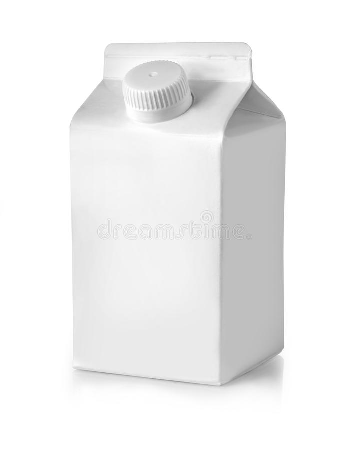 Caixa de leite Pacote da caixa fotos de stock royalty free