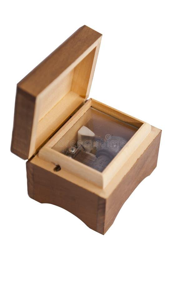 Caixa de música de madeira imagem de stock royalty free
