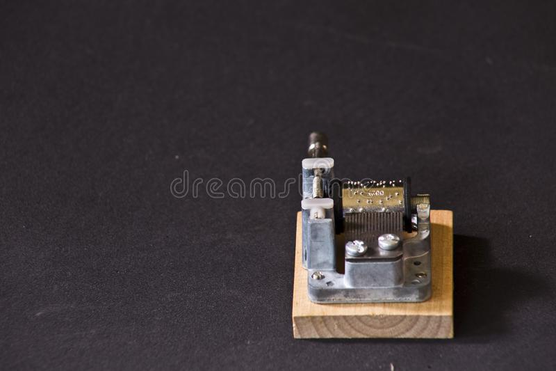 Caixa de música de madeira fotos de stock royalty free