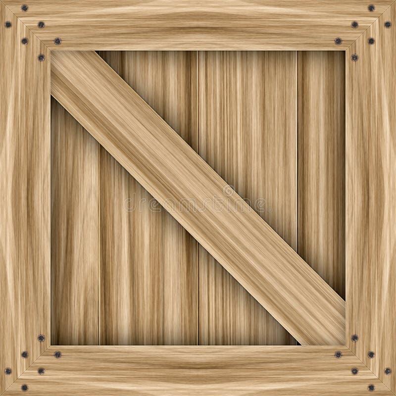 Caixa de madeira ilustração stock