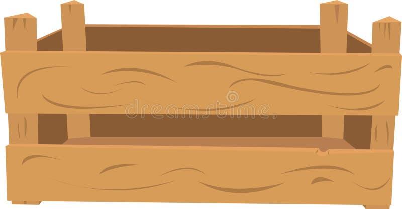 Caixa de madeira ilustração do vetor