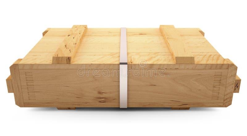 Caixa de madeira ilustração royalty free