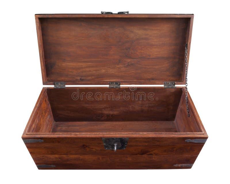Caixa de madeira aberta fotografia de stock royalty free