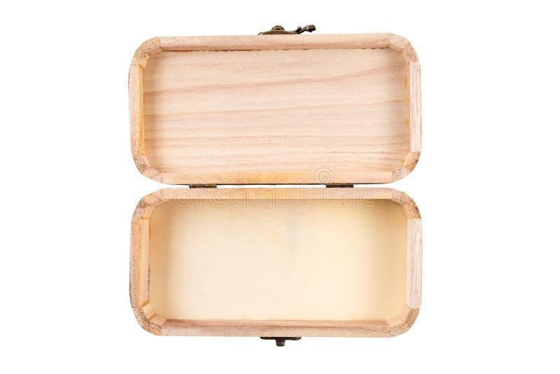 A caixa de madeira aberta isolou-se fotografia de stock royalty free
