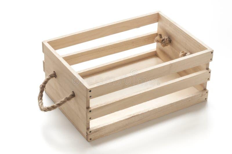 Caixa de madeira com punhos da corda foto de stock royalty free