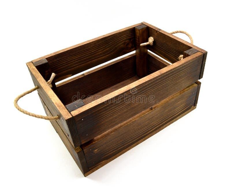 Caixa de madeira do vintage imagens de stock