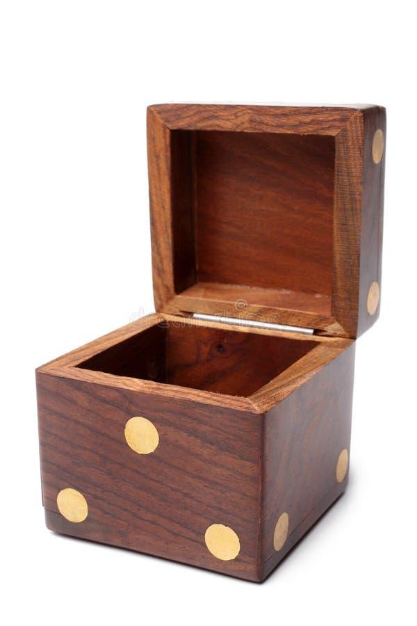 Caixa de madeira dos dados imagens de stock royalty free
