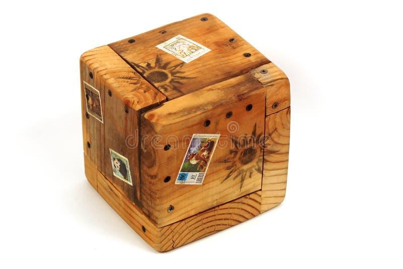 Caixa de madeira exótica foto de stock royalty free