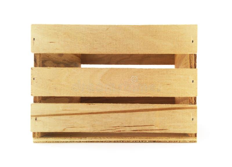 Caixa de madeira isolada imagem de stock royalty free