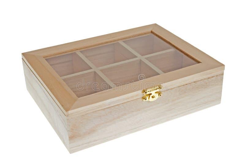Caixa de madeira pequena do chá fechada imagem de stock royalty free