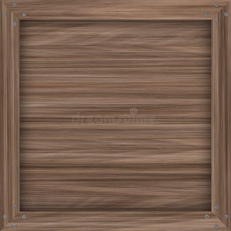 Caixa de madeira simples ilustração stock