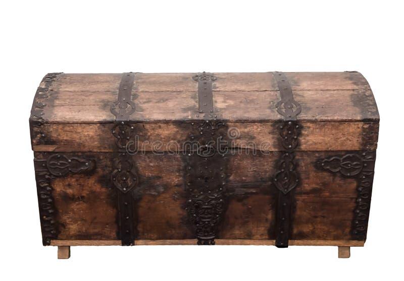 Caixa de madeira velha. imagens de stock