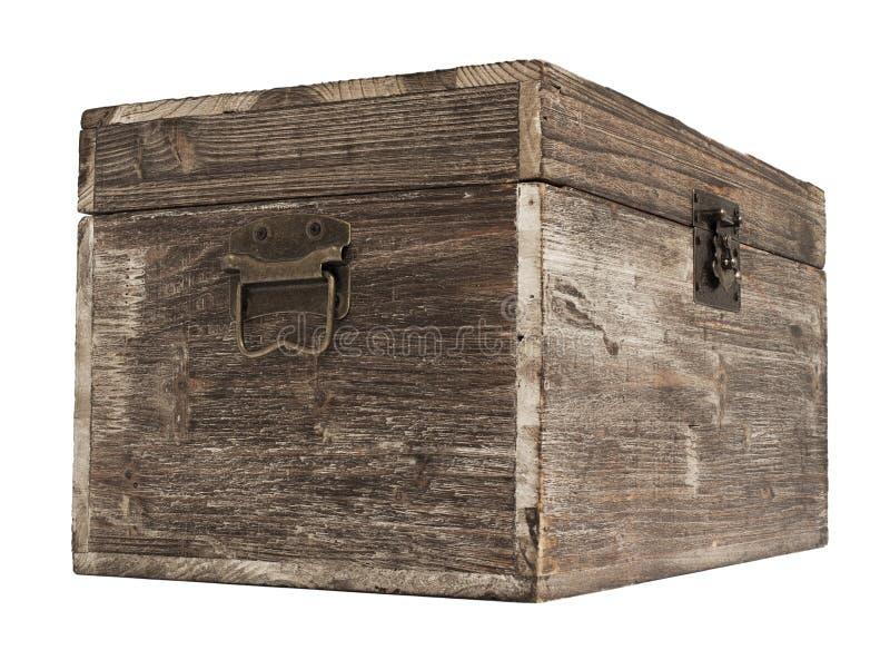 Caixa de madeira velha imagens de stock royalty free