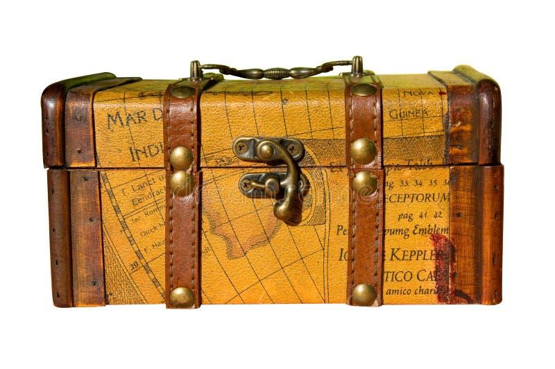 Caixa de madeira velha imagens de stock