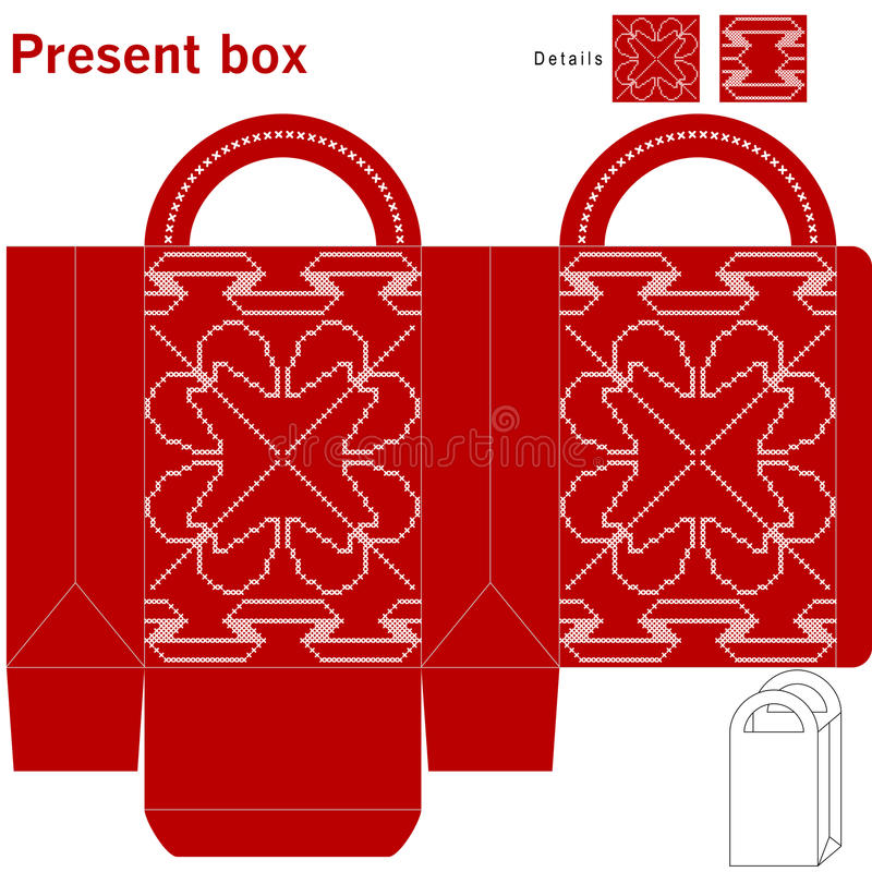 Caixa de Natal decorativa ilustração do vetor