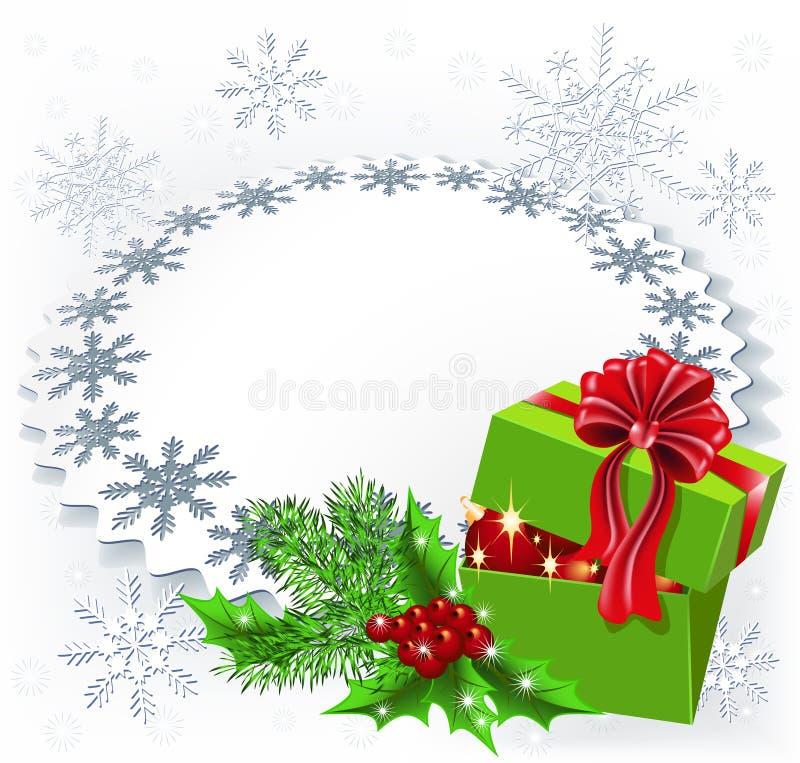Caixa de Natal do presente ilustração do vetor