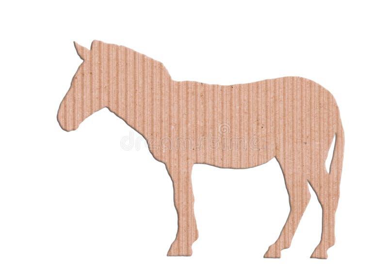 Caixa de papel da forma da zebra foto de stock royalty free