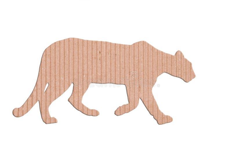 Caixa de papel da forma do puma fotografia de stock royalty free