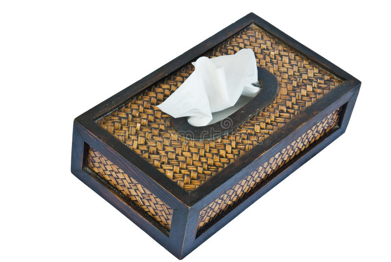 Caixa de papel de tecido foto de stock