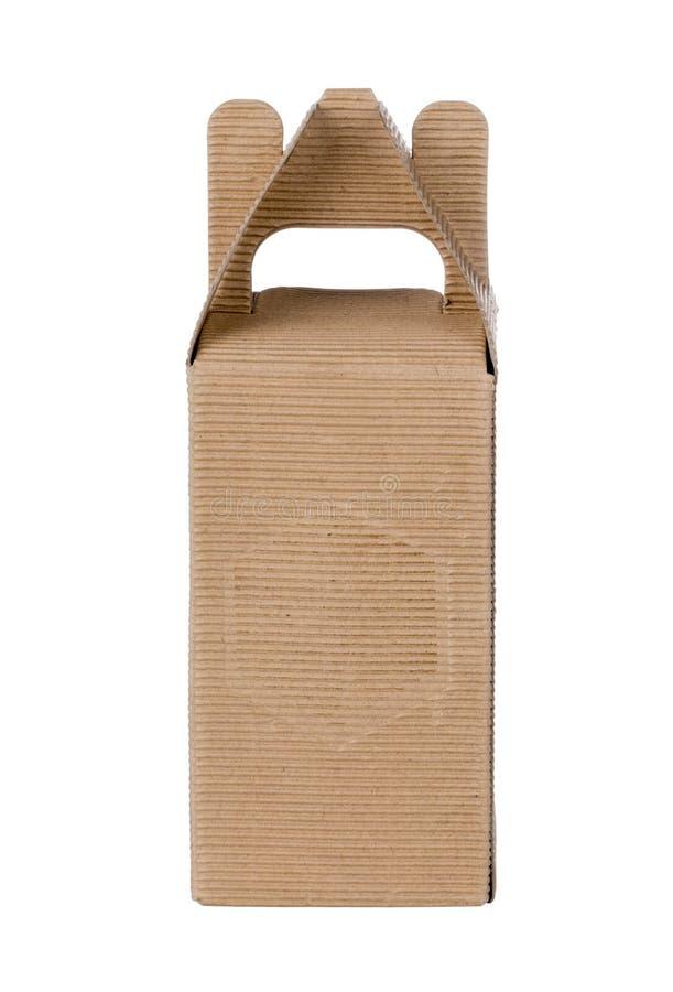 Caixa de papel fechada imagem de stock