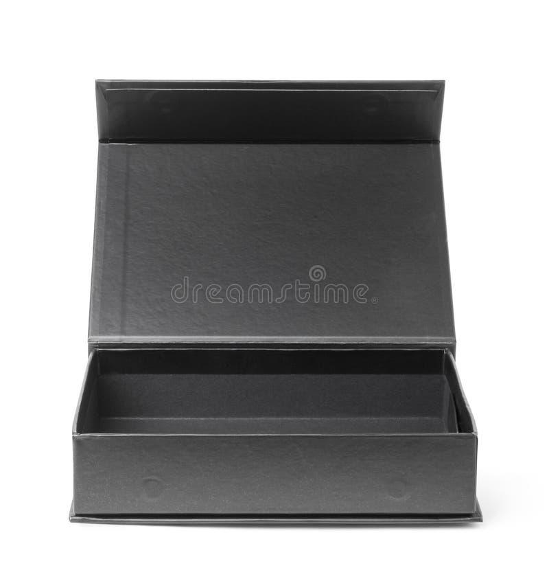 Caixa de papel preta foto de stock