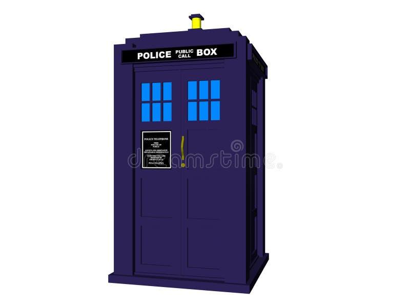 Caixa de polícia ilustração stock