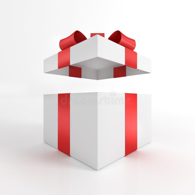 A caixa de presente aberta 3D rende ilustração do vetor
