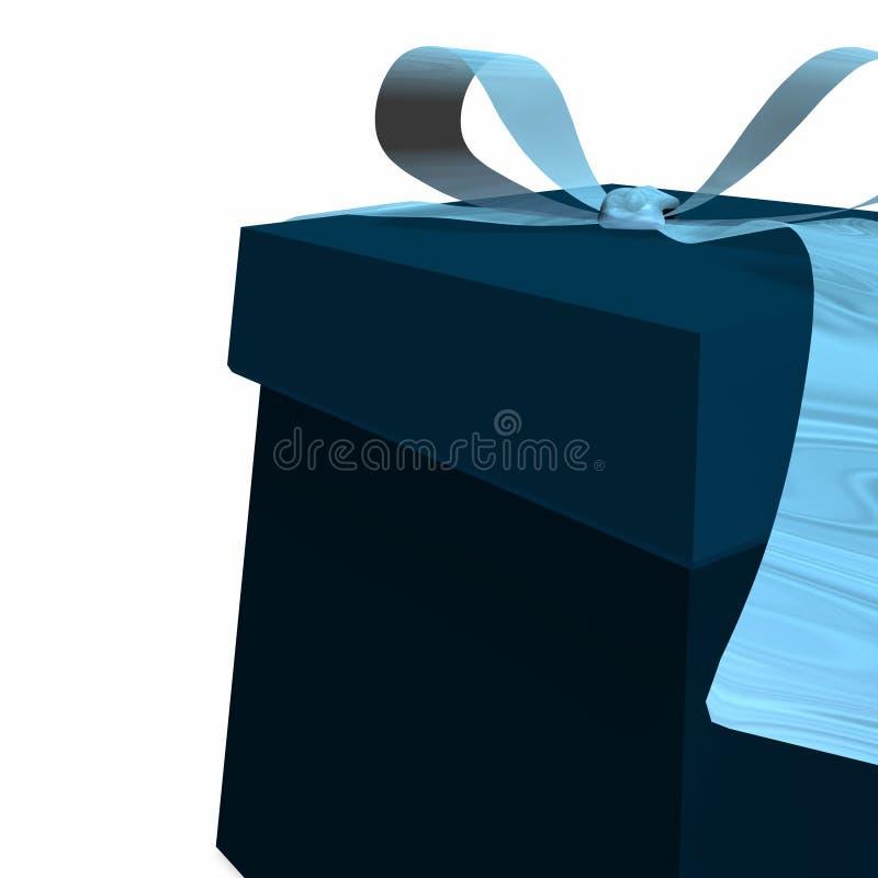 Caixa de presente azul ilustração stock