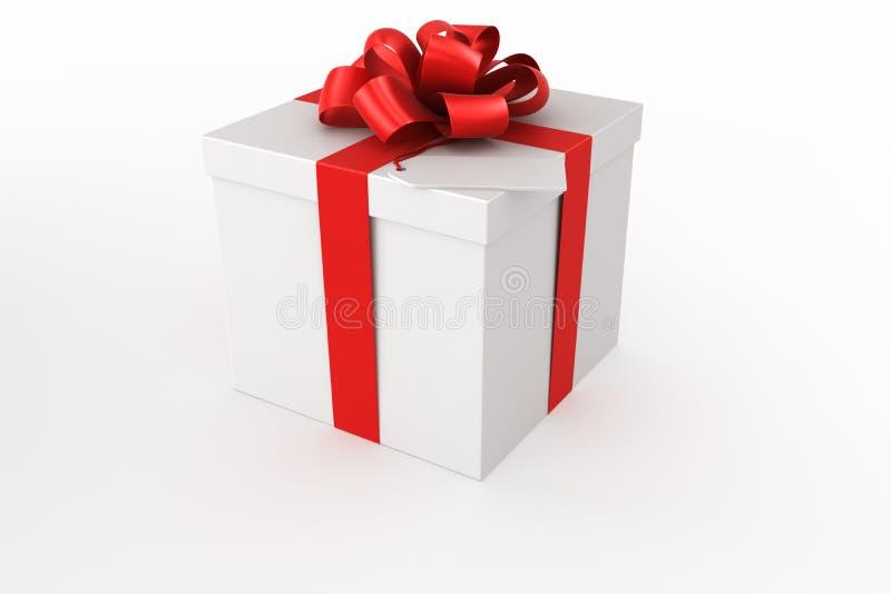 Caixa de presente branca ilustração stock