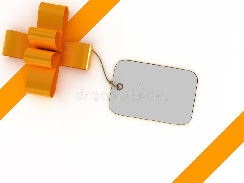 Caixa de presente com etiqueta em branco ilustração do vetor