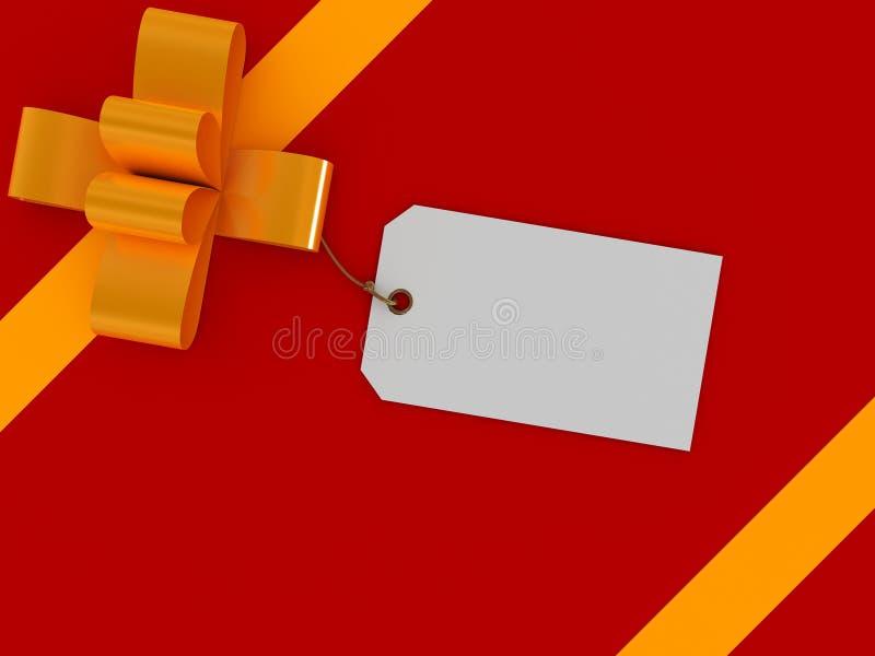 Caixa de presente com etiqueta em branco ilustração stock