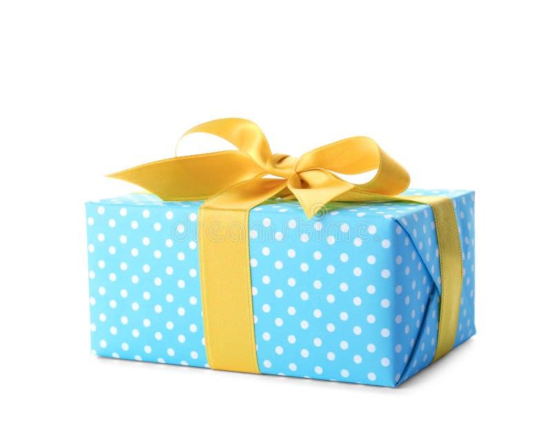 Caixa de presente com fita imagens de stock