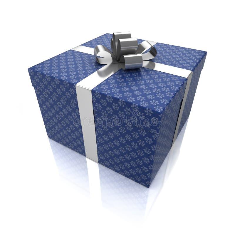 Caixa de presente com testes padrões fotografia de stock
