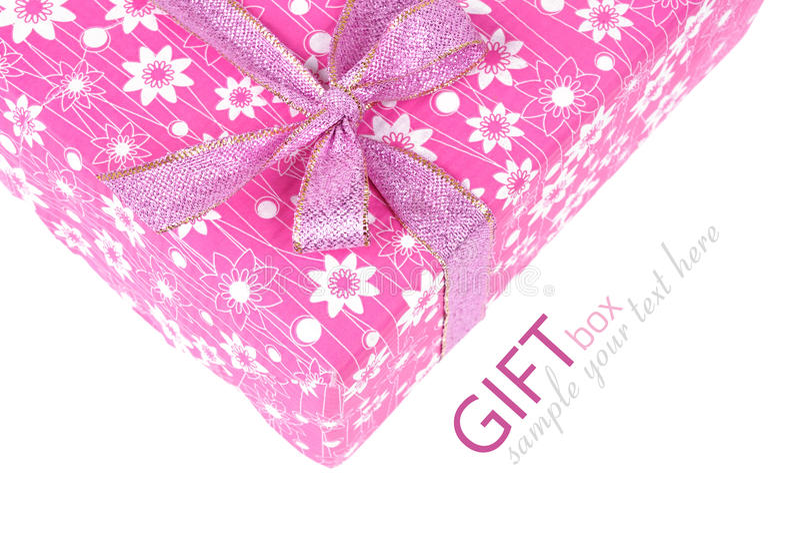 Caixa de presente cor-de-rosa imagens de stock royalty free
